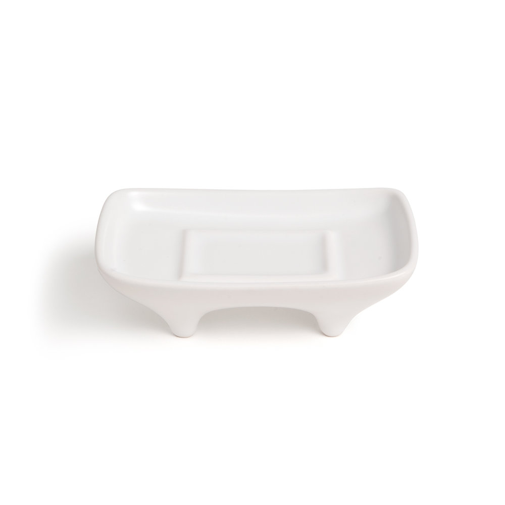 3D Printed Soap Dish - Matte White