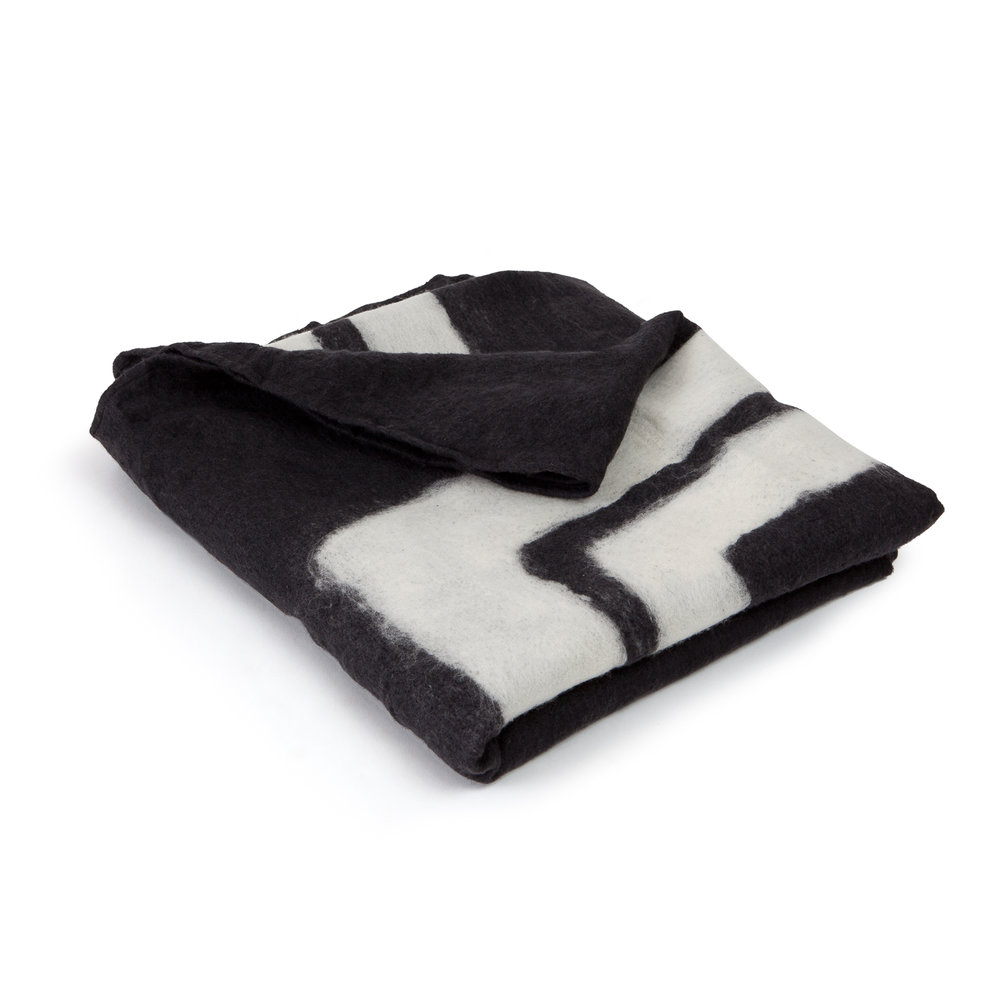 Wool and American Cashmere Frame Throw