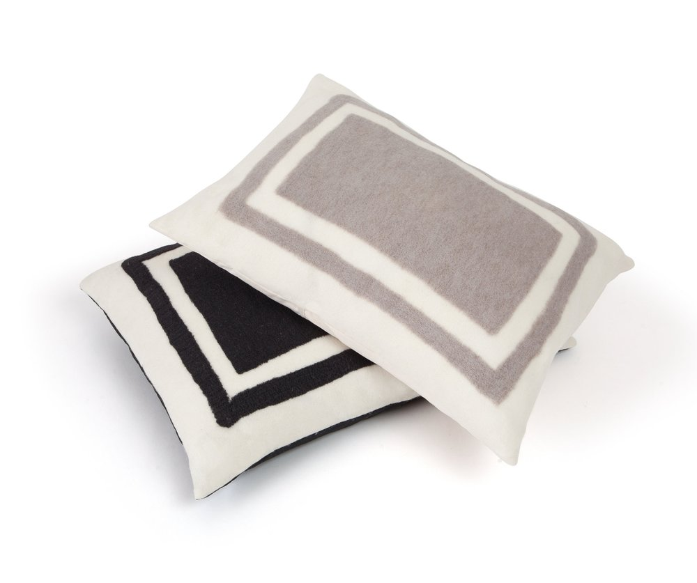 Copy of Felted Wool and American Cashmere Pillow