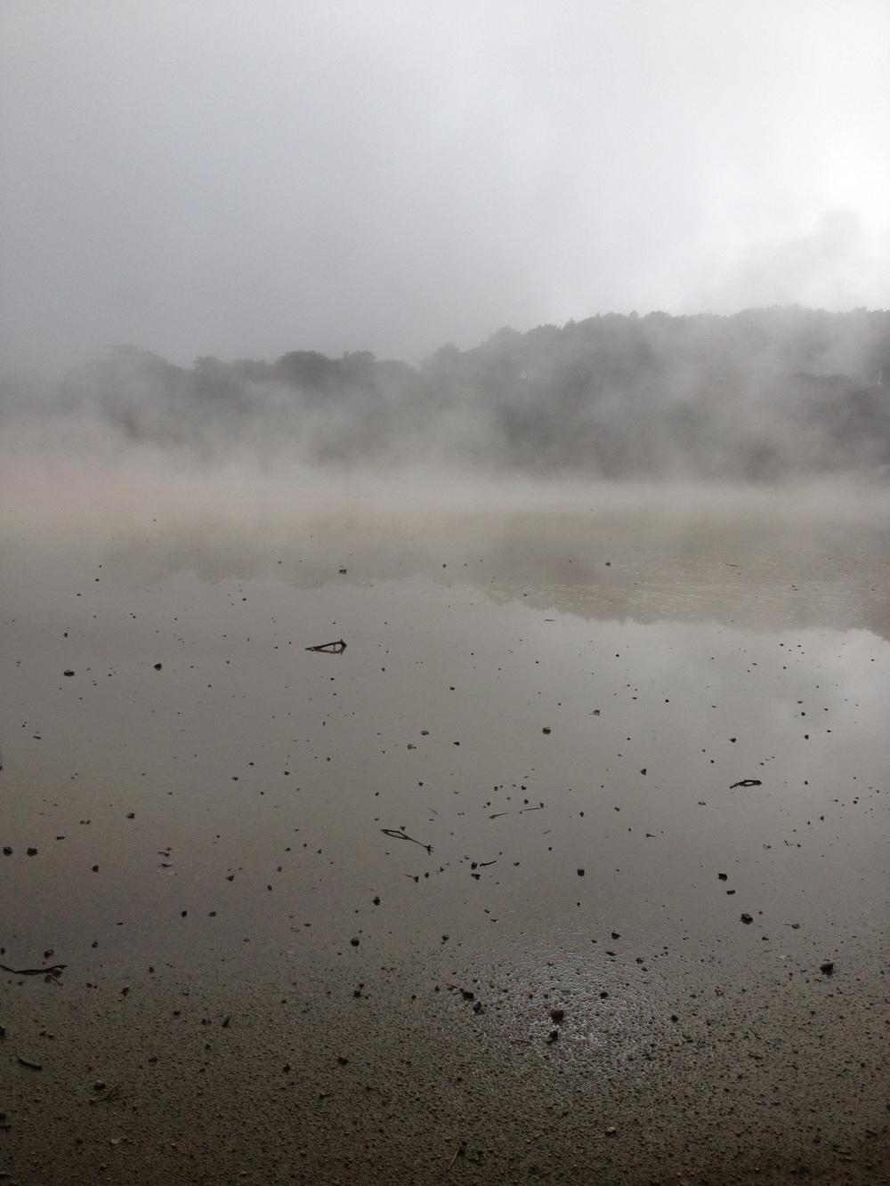 The Primrose Terrace in the fog