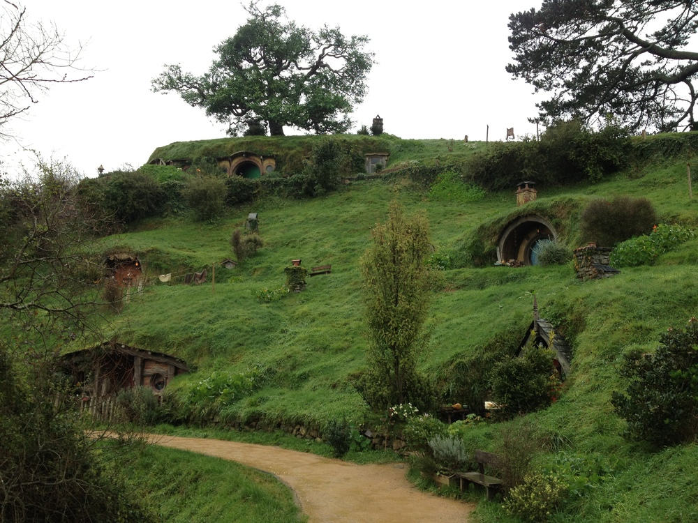 Bilbo's house at the top of the hill