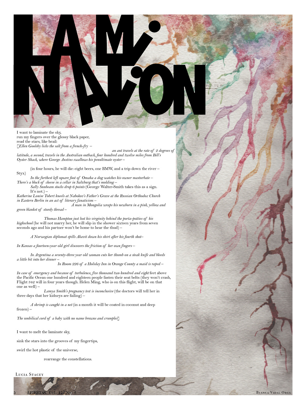 Networks Issue (Vol. 17, No. 2), page 5, layout design and typography
