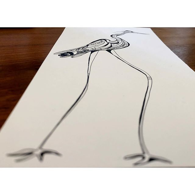 Leggy  Ink, Dec 2018 #byLMS #heron