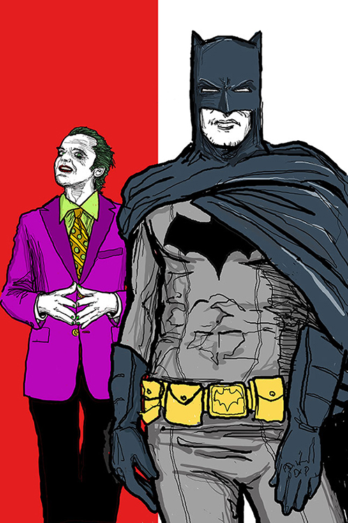 Batman and Joker Concept art
