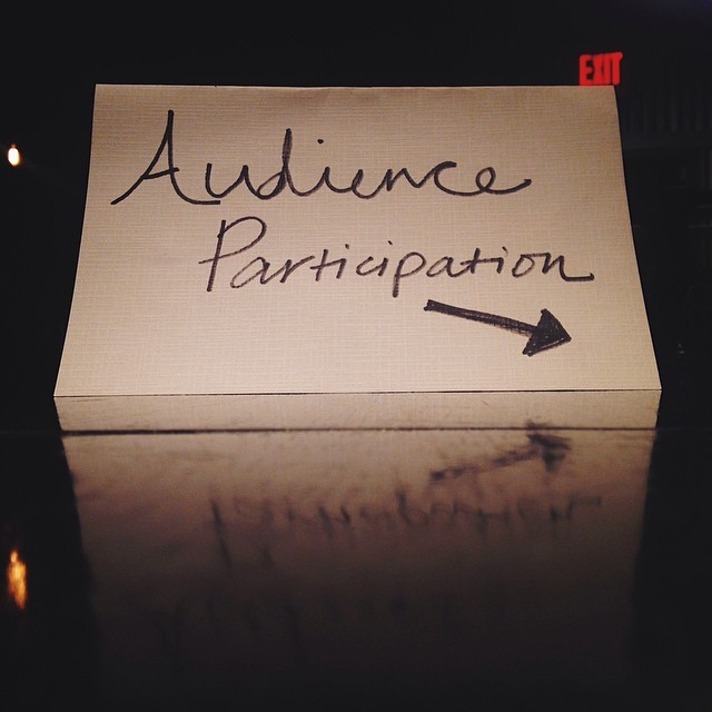 Make sure to drop in your story in the audience participation basket tonight!