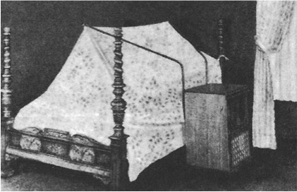 An air-conditioned bed covered with a tent like structure.