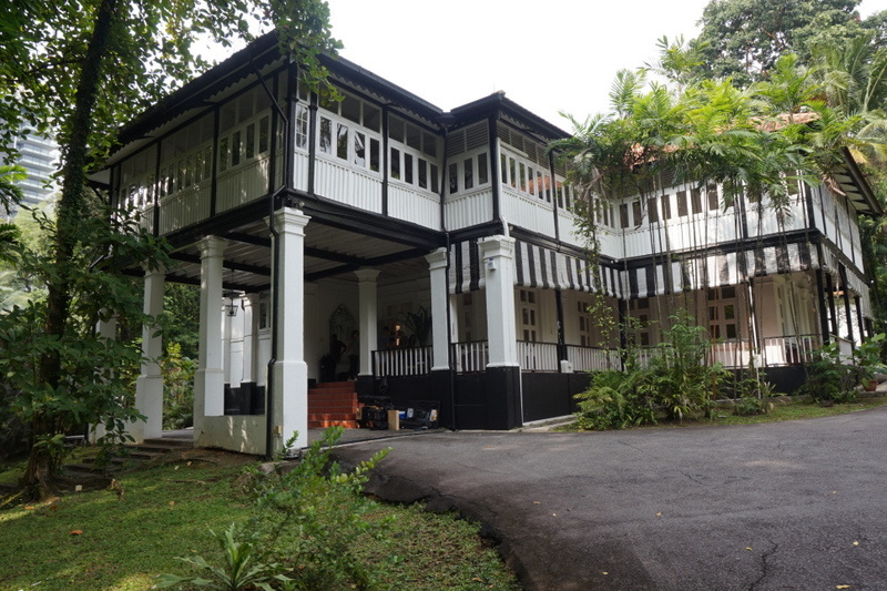 A black-and-white house in goodwood hill, singapore.