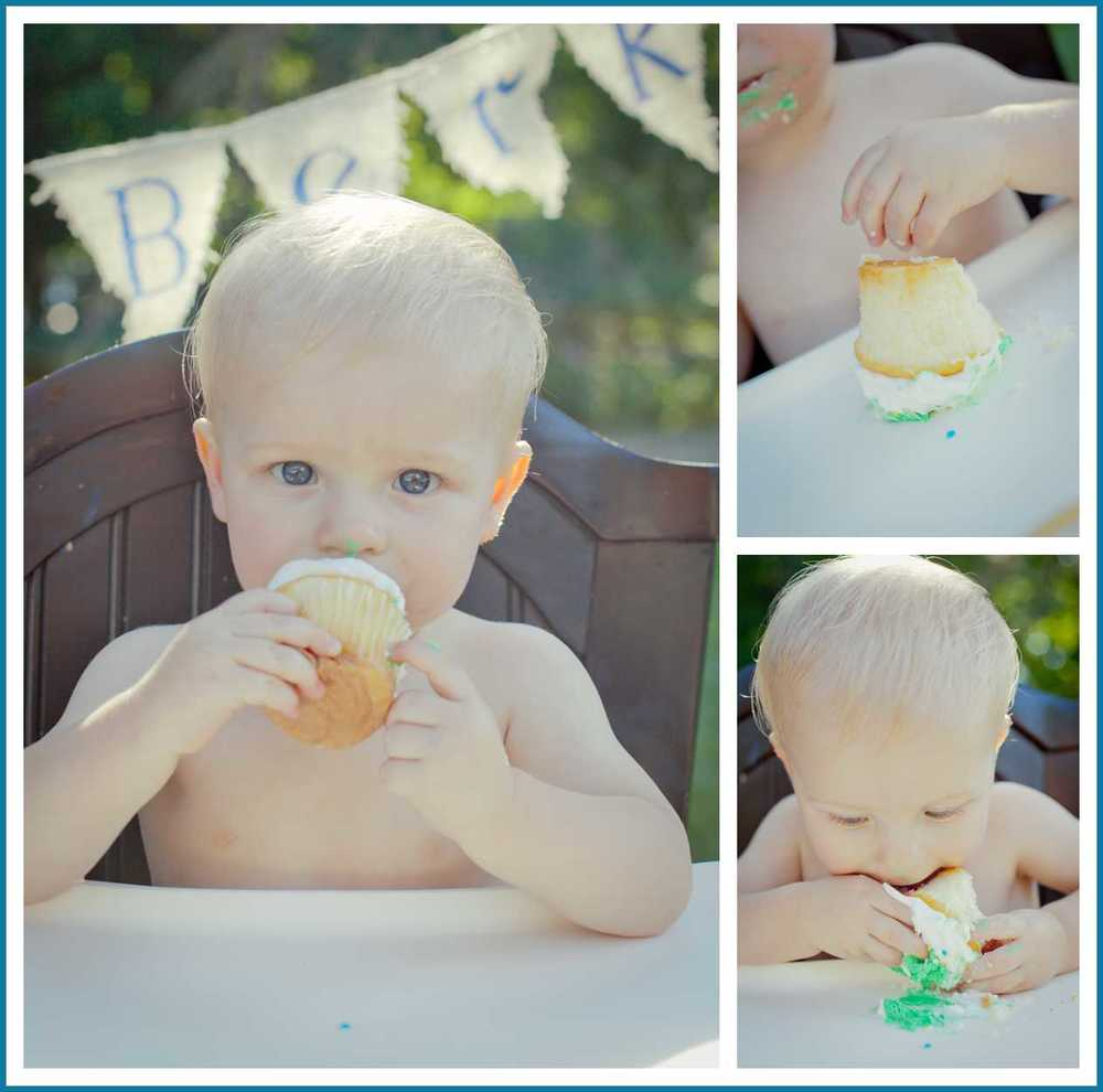 Minnesota Childrens Photographer South Dakota Childrens Photographer Outoor First Birthday Cake Smash
