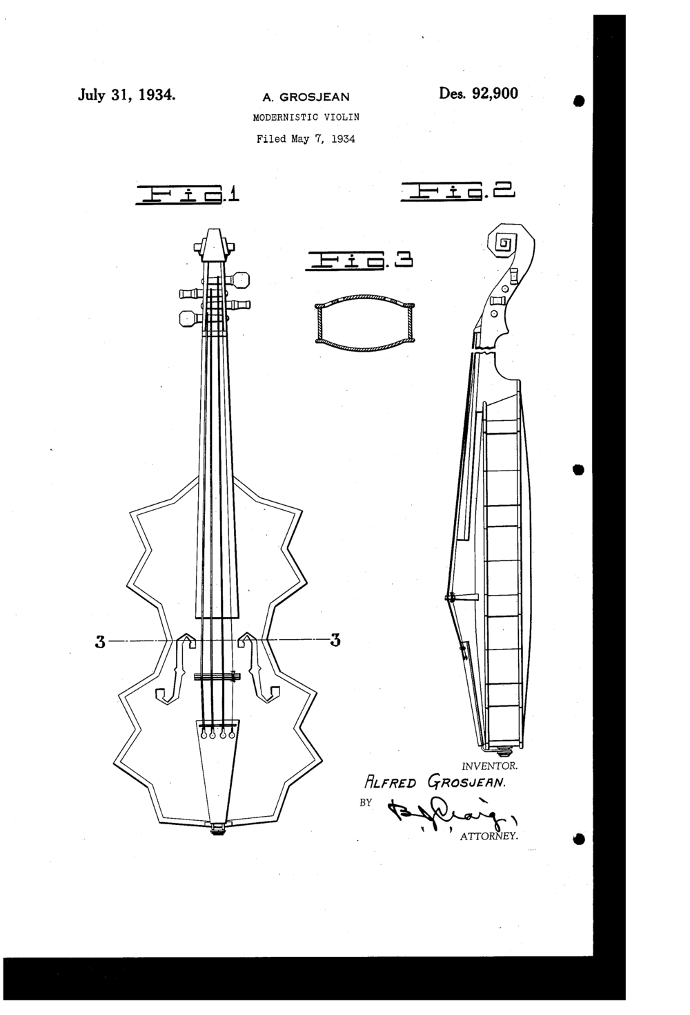 Original 1934 Patent filed by Alfred Grosjean