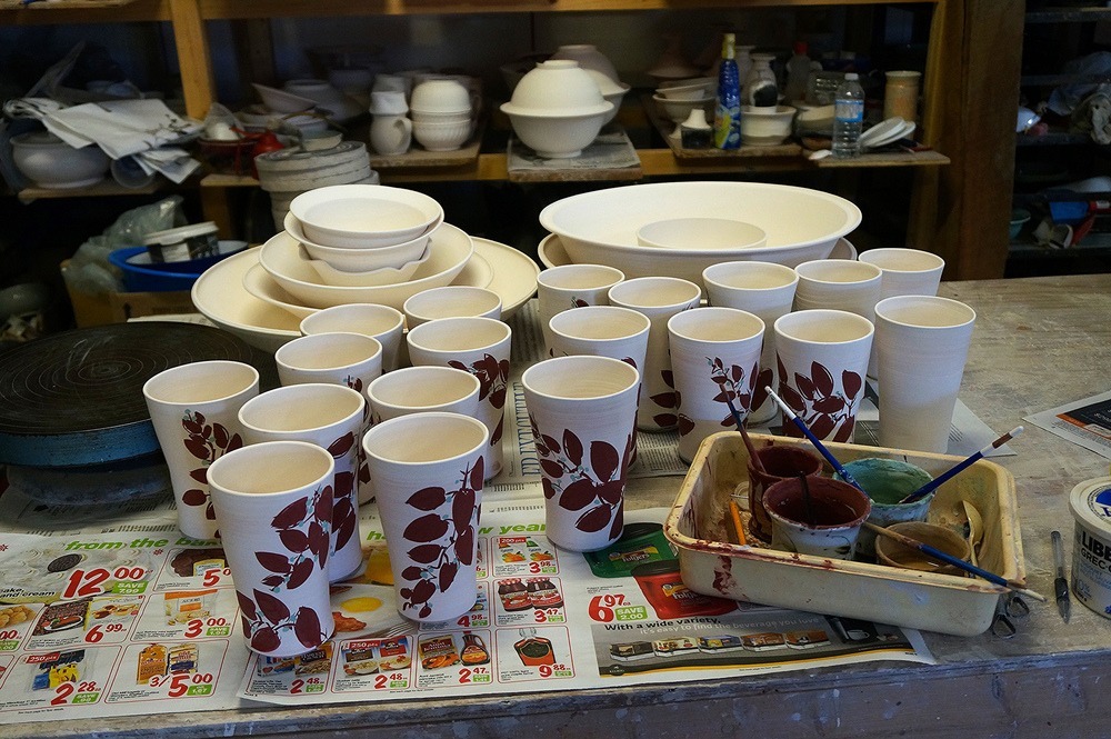 Decorating each cup by hand takes a looooong time