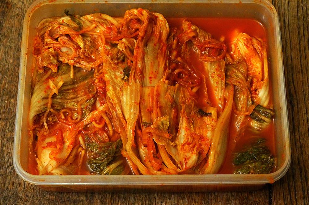 Homemade kimchi, thank you Una!