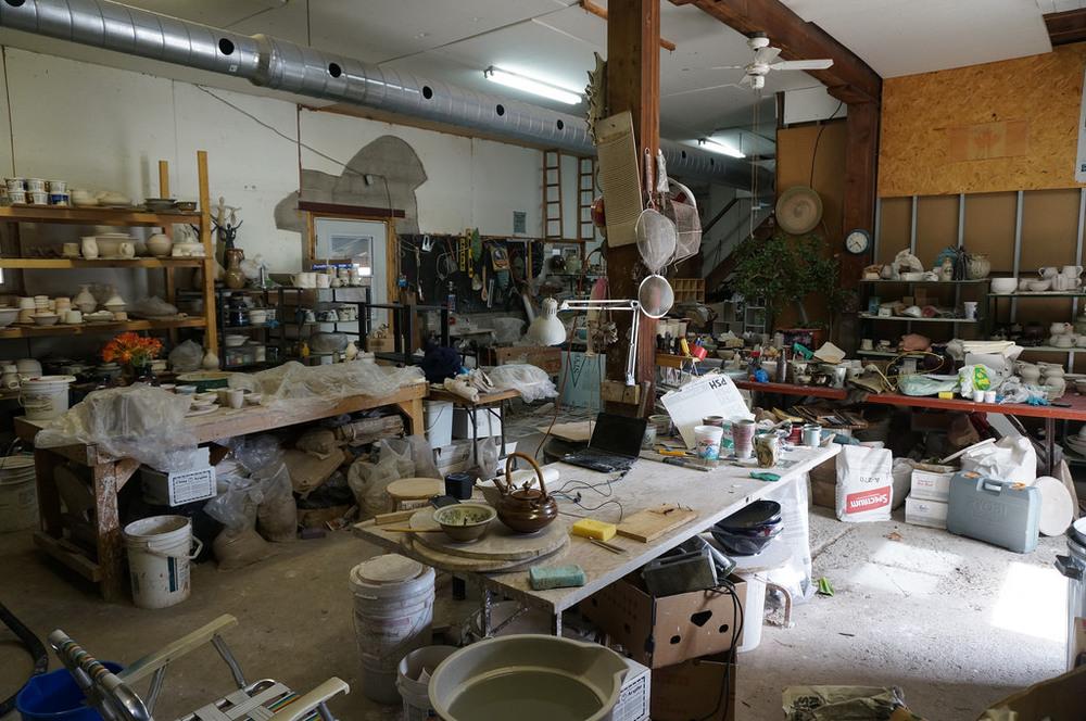 The studio looking clean as always
