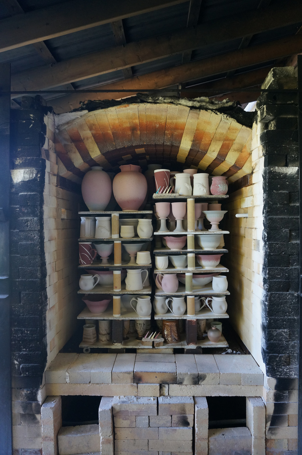 and finally, the kiln all loaded and ready to go! We'll be able to open this one up on Saturday!