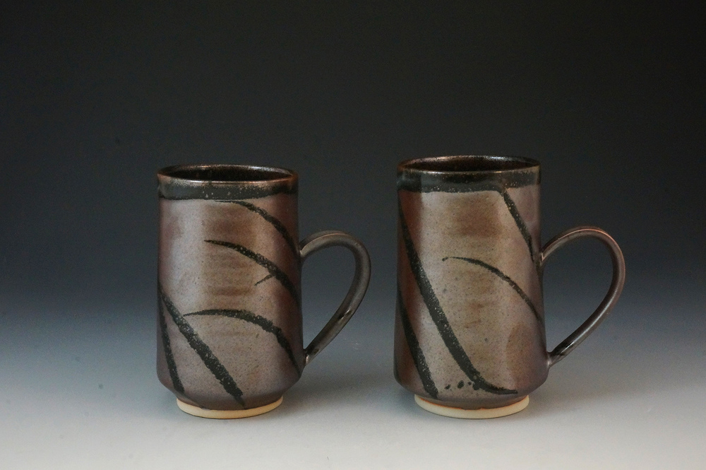 Two of my new larger black mugs :)