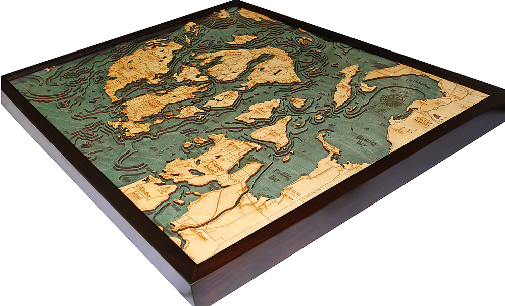 3d Wood Maps Bella Maps
