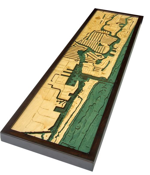 Map Of Fort Lauderdale Florida.Fort Lauderdale Fl 3d Wood Maps Bella Maps