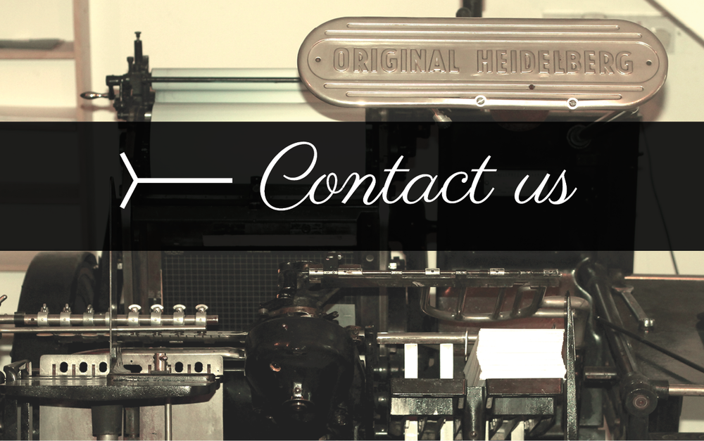 Find out more about our letterpress business cards. We can print your design or create a custom design just for you!