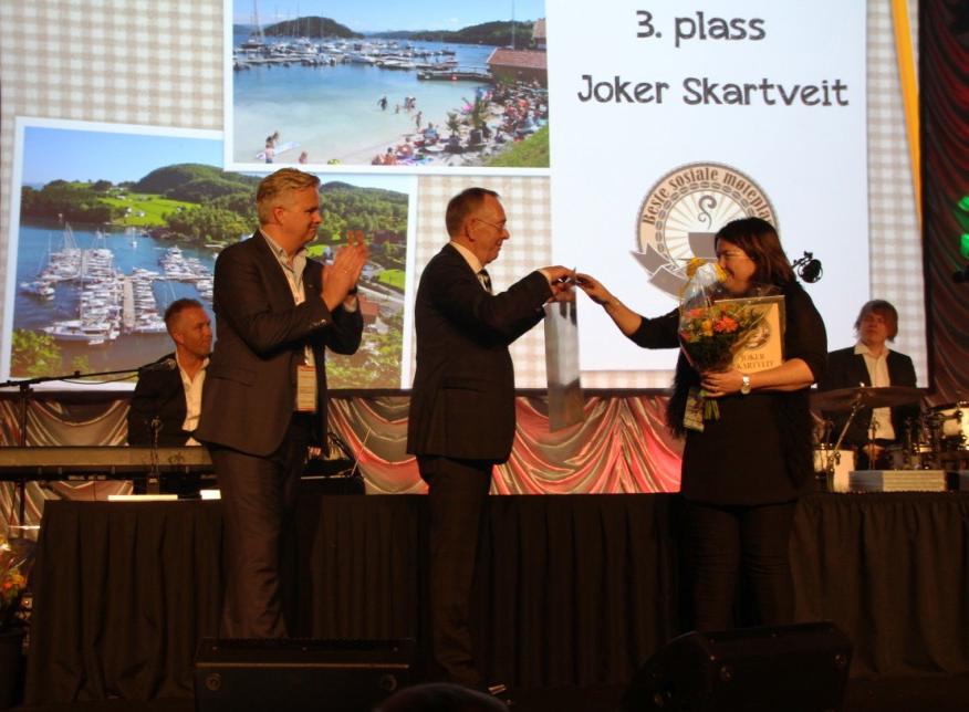 1665b770 PRIS NR.2: Anita Ørnes og Joker Skartveit har tidligere fått pris for  landets beste møteplass. Nå ble det ny pallplassering. T.v. Ole Christian  Fjeldheim og ...