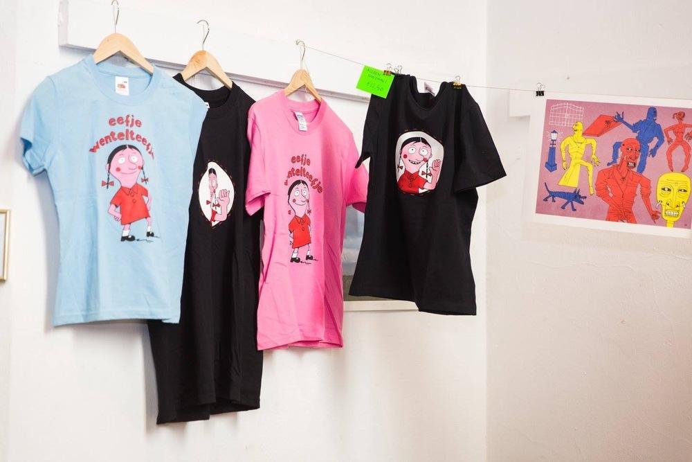 De laatste Eefje Wentelteefje shirtjes die we aan het verkopen zijn.