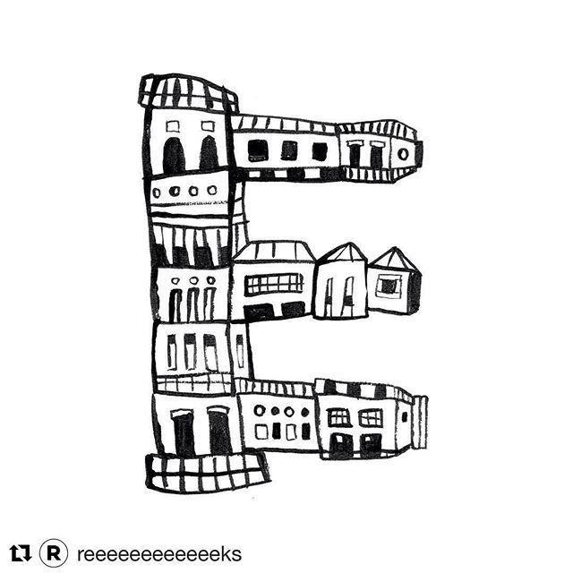 I made this E for the @reeeeeeeeeeeeks, a nice series of black and white EEEEEEEEs by illustrators and graphic designers. #Repost @reeeeeeeeeeeeks ・・・ @marjoleinschalk her contribution to Reeeeeeeeeeeks is this nice E! This week she will be the host of the Reeeeeeeeeeerks insta! #happywiththat . . . #illustratie #illustration #blackandwhite #letter #E #drawing #design #dutch #nederlands #graphicdesign