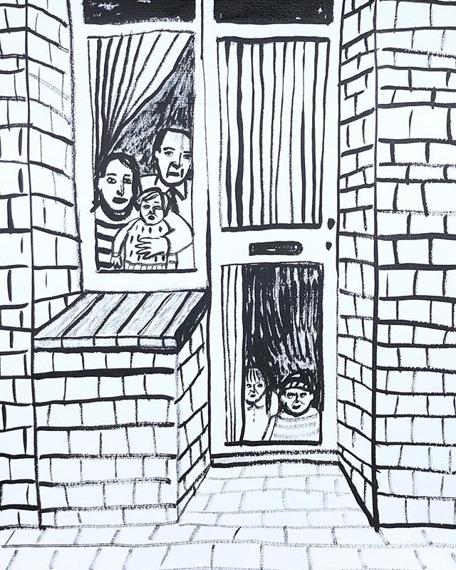 Happy weekend, don't forget to go outside. . . . #illustration #illustratie #house #family #familie #trapped #ink #weekend #party