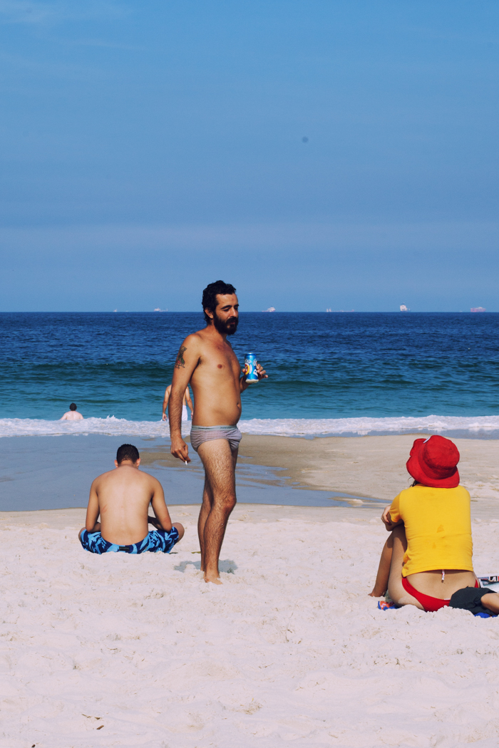 this guy was killin it. rocking what looked like underwear, smoking a dart and drinking a beer- the people watching on this beach was amazing.