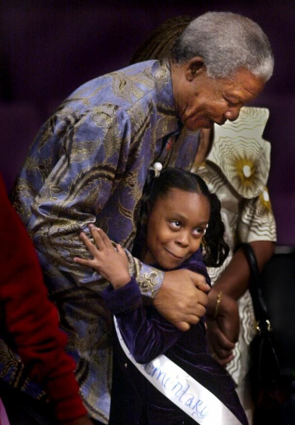 Nelson Mandela in Memphis, November 2000.