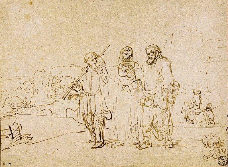 Rembrandt?,The Walk to Emmaus