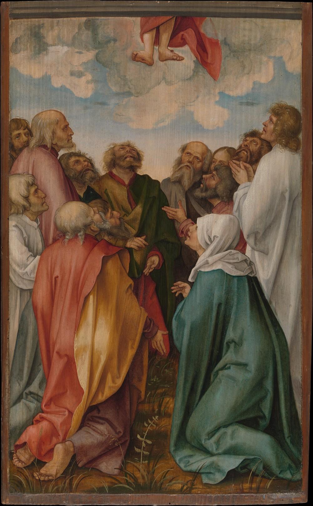 The Ascension of Christ, Hans Süss von Kulmbach, 1513.Metropolitan Museum of Art.