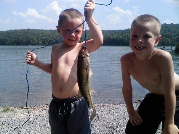 Peyton & Gage fishing
