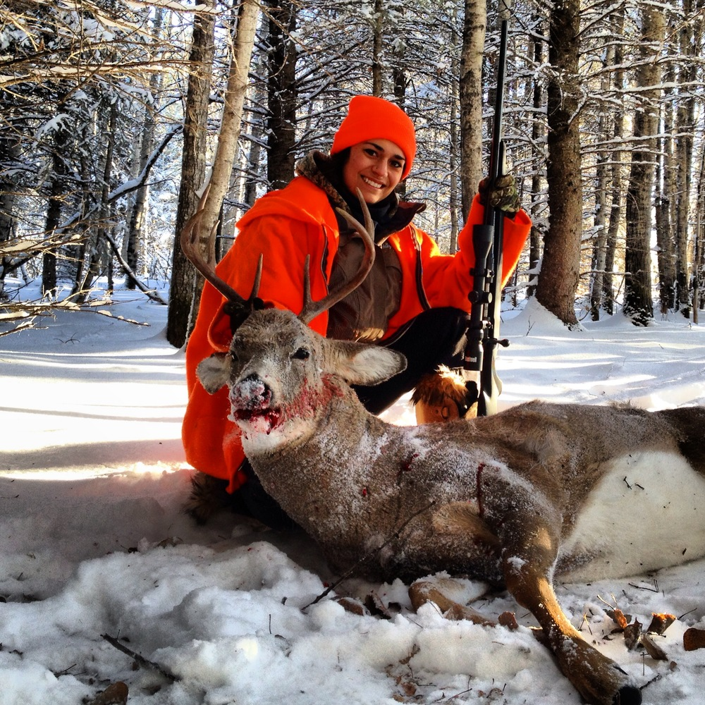 Mom Anita with her first buck