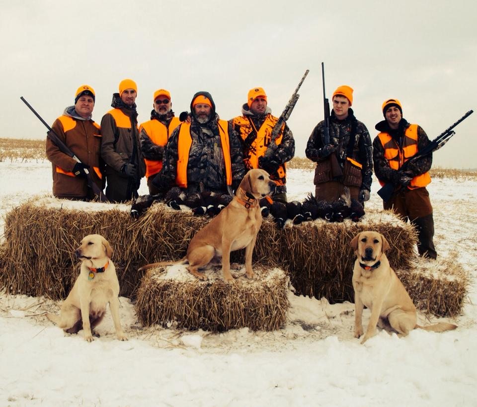 Dad Wade (second from left) with some of his 'extended hunting family'