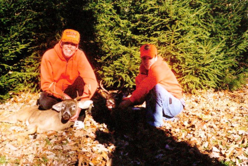 Hunting Dad Craig and his son CJ in 1998