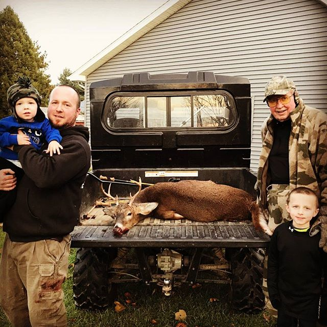 Tis the season; that sweet little spot between archery and rifle where we can relax and really reflect on what we are grateful for - and overwhelmingly its more about WHO we are thankful for. We received this photo of three generations of a hunting family. Grandpa and grandson watching from the stand while Dad snagged a #basketrack 🙌 We want to see your #huntingfamily or #fishingfamily !