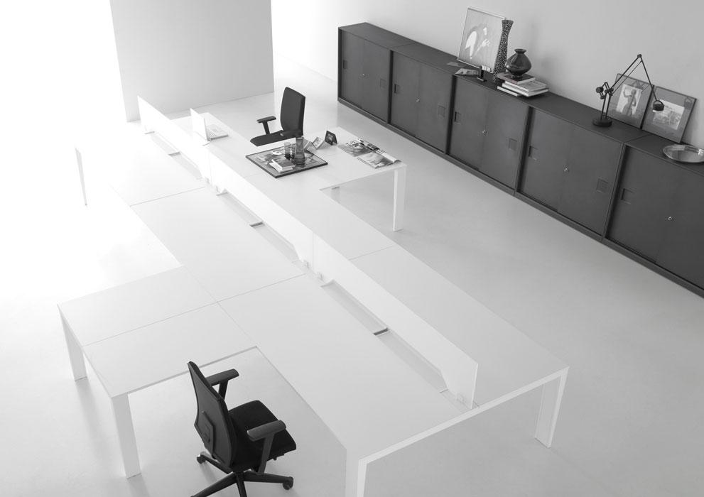 Voorbeeld van een flexibele kantoorinrichting