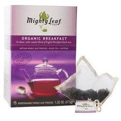 I'm no connoisseur (tea-wise or otherwise), but I'm pretty sure Mighty Leaf tea has to be the top dog of the tea-drinking world. I've never really noticed much difference between good tea and cheap tea before, but this stuff is like sipping on a little bit of heaven.
