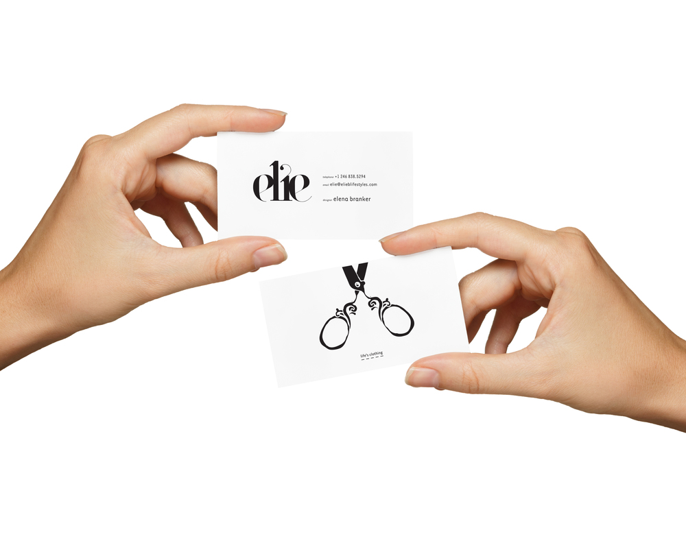 Elie Lifestyles Double Sided Business Cards   Brand Development