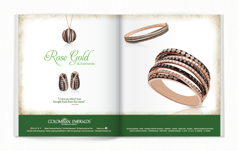 Colombian Emeralds International Full Page Spread   Advertising