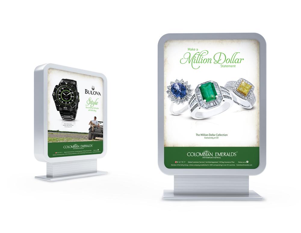 Colombian Emeralds International Duratrans   OOH Advertising