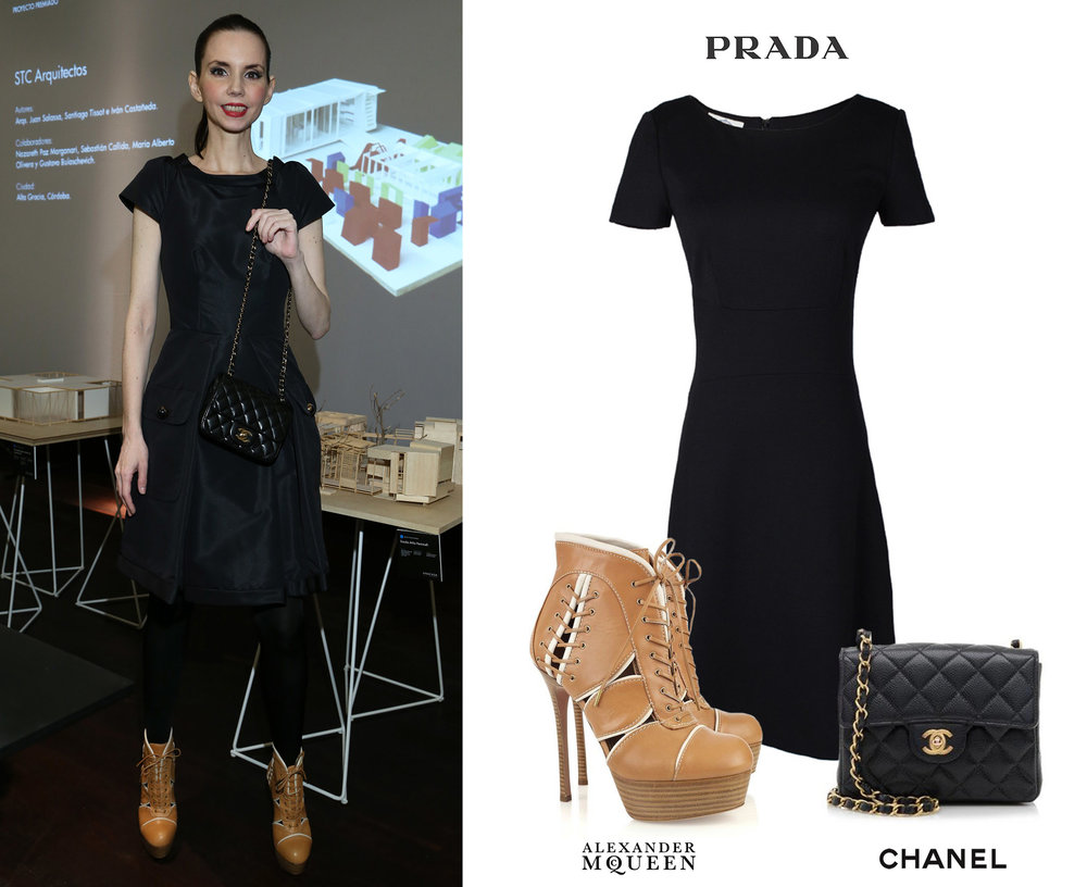 Marina_Achaval_Muestra_Una_Casa_2016_Zapatos_Alexander_McQueen_Baseball_Boots_Chanel_Mini_255_Caviar_Bag_Cartera_Prada_Little_Black_Dress_Vestido_Negro.jpg