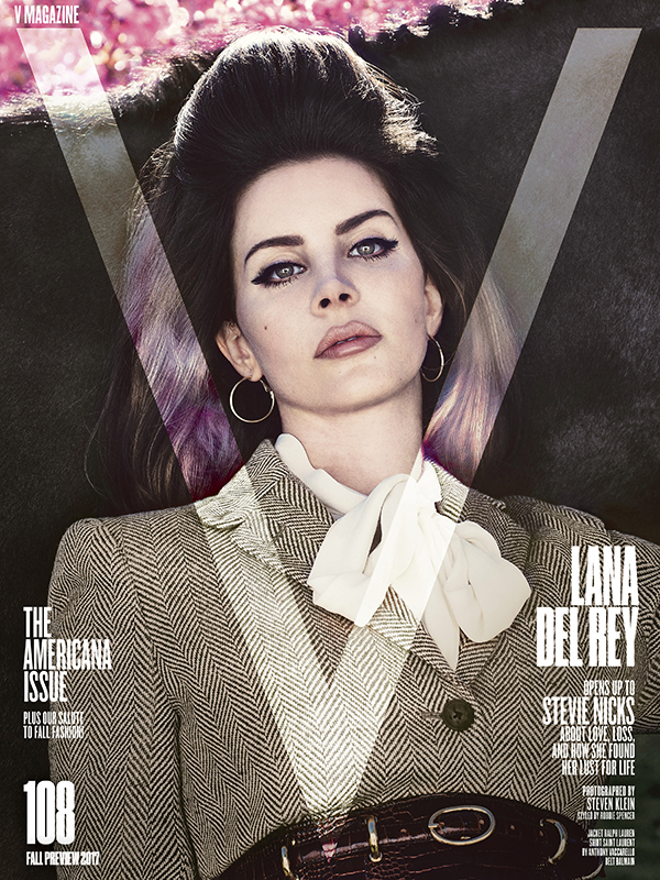 V MAGAZINE  | The americana issue • Cover page: lana del rey