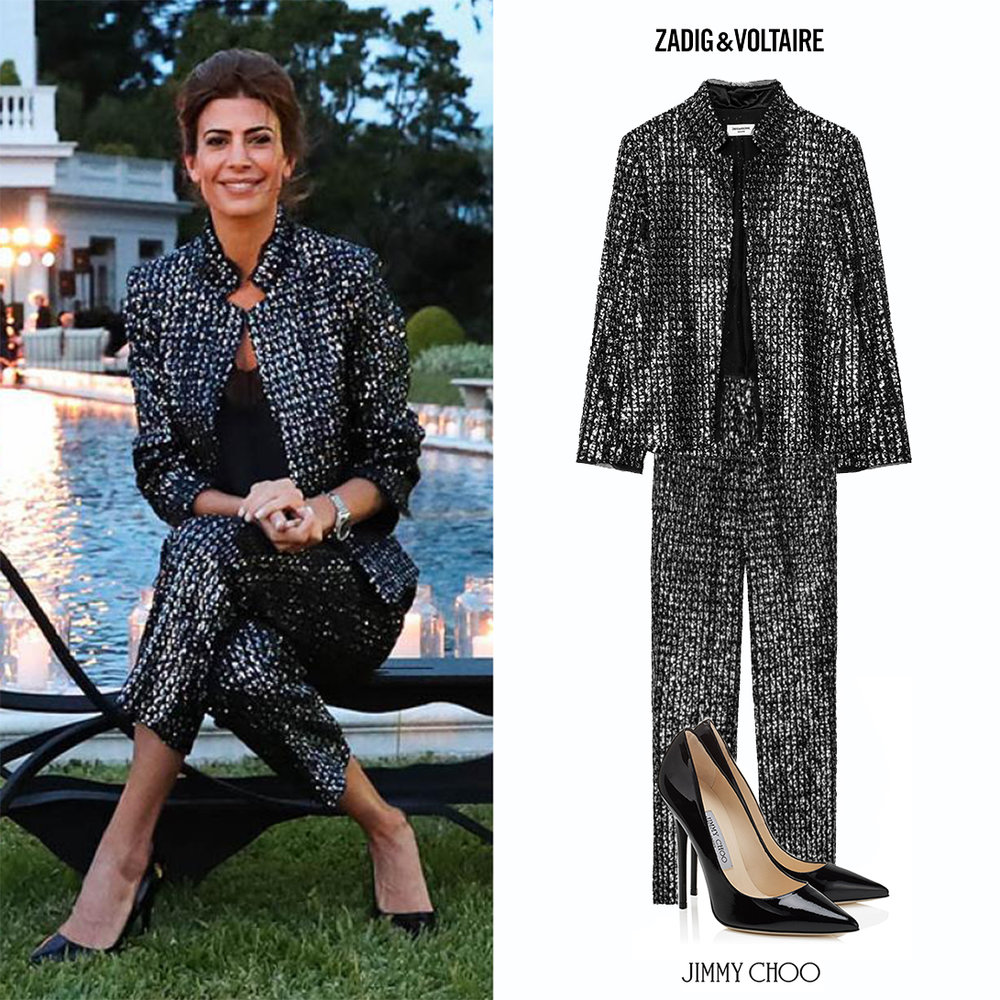 Juliana_Awada_Art_Basel_Zadig_Voltaire_Sparkling_Sequined_Jacket_Pant_Anouk_Jimmy_Choo_Pumps_Black_Looks_Argentina_First_Lady.jpg