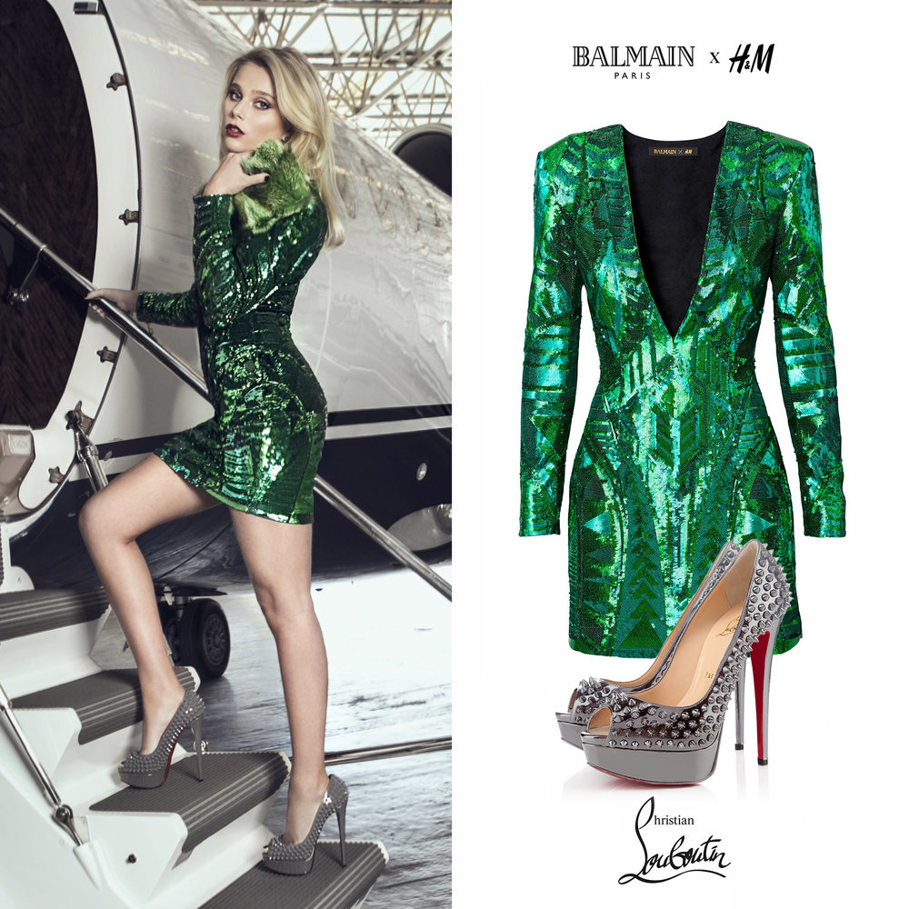 Valentina_Zenere_Revista_de_Punta_Magazine_dePunta_Green_Balmain_HM_Paillettes_Dress_lady_Spike_Louboutin_Shoes_Zapatos_Verde_Gris_2017_2018.jpg