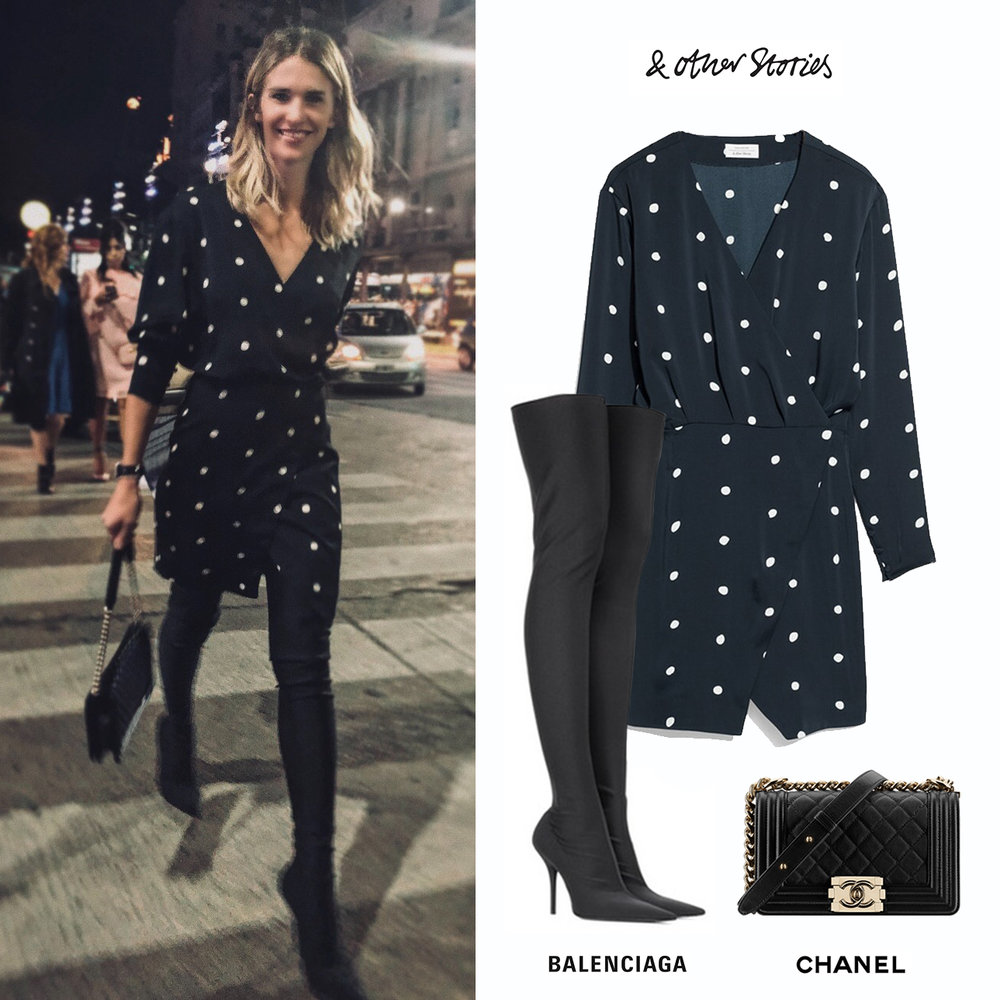 Julieta_Spina_Jean_Paul_Gaultier_CCK_Buenos_Aires_Vestido_&_and_other_stories_dot_polka_dress_lunares_botas_Balenciaga_Knife_Boots_Black_Negras_Cartera_Chanel_Boy_Bag.jpg