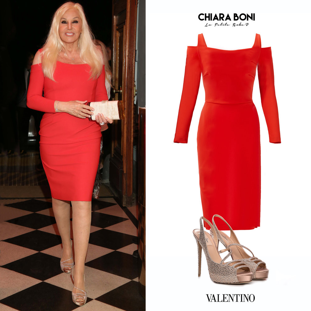 Susana_Gimenez_Buenos_Aires_2018_Vestido_Rojo_Chiara_Boni_Le_Petit_Robe_Long_Sleeve_Cut_Open_Shoulders_Red_Dress_Sandalias_Cristales_Valentino_Crystal_Suede_Sandals_Platform.jpg