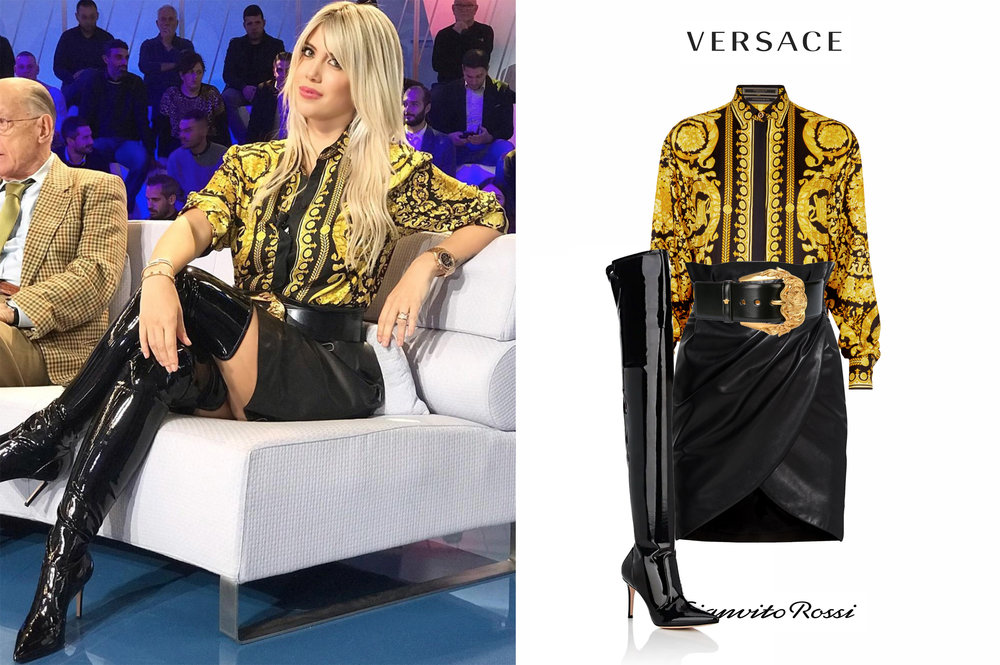 Wanda_Nara_Icardi_Italia_Gianvito_Rossi_Vinyl_Over_The_Knee_Boots_Botas_Vinilo_Versace_Barroco_Camisa_Shirt_Baroque_Cinturon_Draped_Leather_Skirt.jpg