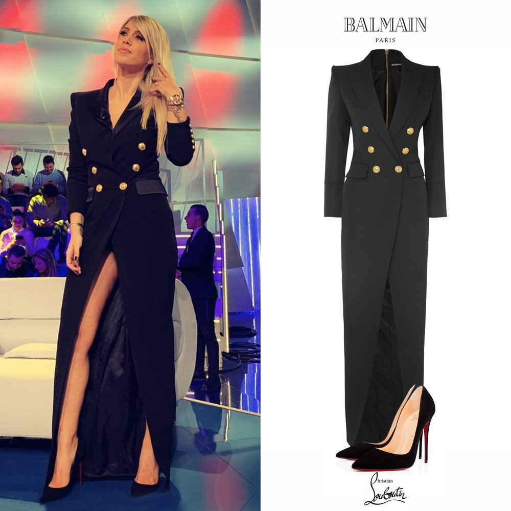 Wanda_Nara_Icardi_Vestido_Blazer_Dress_Balmain_Christian_Louboutin_So_Kate_Pumps_Zapatos_Negros.jpg