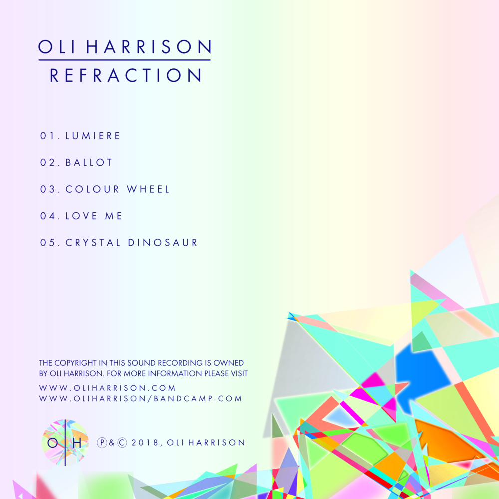 Refraction EP by Oli Harrison - Tracklist.