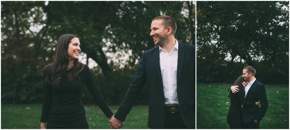 Engagement Photo Session in a Kansas City park