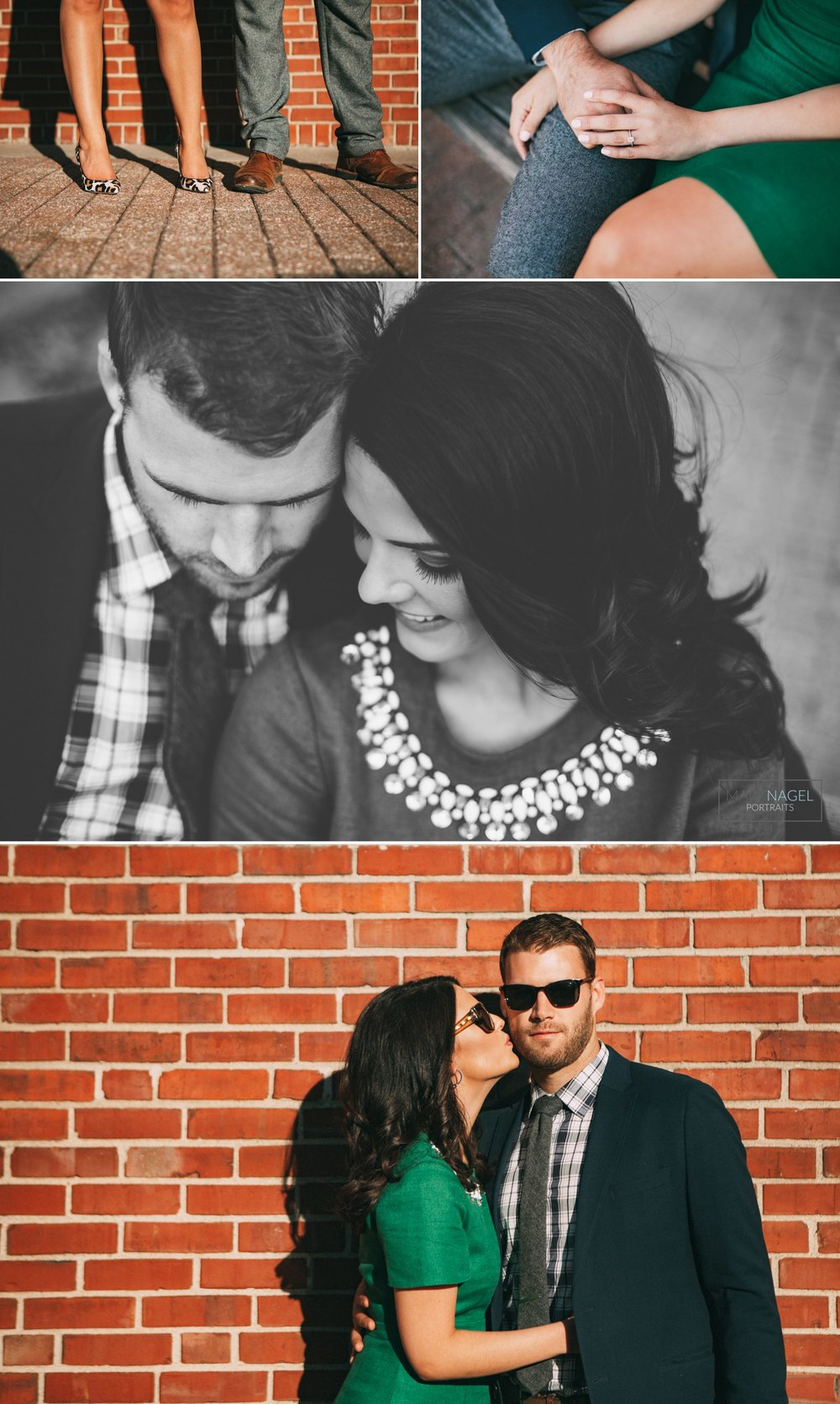 engagement photo session downtown kansas city urban
